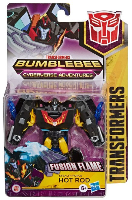Transformers Bumblebee Cyberverse Adventures Stealth Force Hot Rod Warrior Action Figure