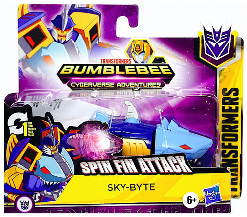 """Transformers Bumblebee Cyberverse Adventures 1 Step Changer Sky-Byte 4.25"""" Action Figure"""