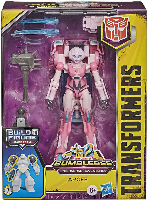 Transformers Bumblebee Cyberverse Adventures Build a Maccadam Arcee Deluxe Action Figure