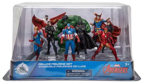 Disney Marvel Avengers Exclusive 9-Piece PVC Figure Play Set [Captain America, Hulk, Iron Man, Black Panther, Black Widow, Doctor Strange, The Falcon, Winter Soldier & Captain Marvel]