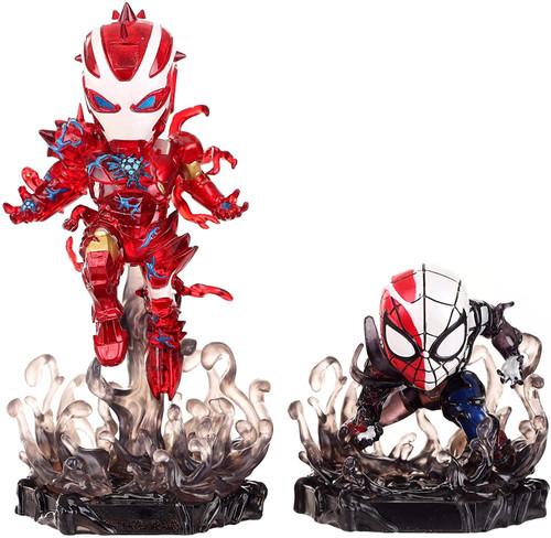 Marvel Mini Egg Attack Maximum Venom Iron Man & Spider-Man Exclusive 4-Inch 2-Statue Set DS-018