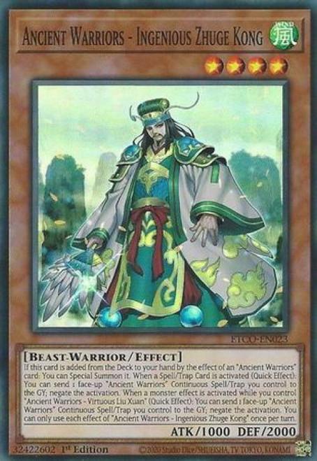 YuGiOh Eternity Code Super Rare Ancient Warriors - Ingenious Zhuge Kong ETCO-EN023