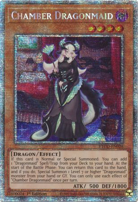 YuGiOh Eternity Code Starlight Rare Chamber Dragonmaid ETCO-EN026