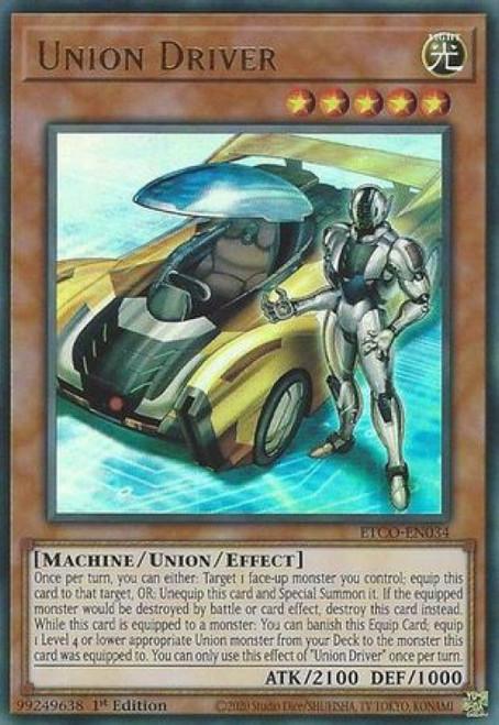 YuGiOh Eternity Code Ultra Rare Union Driver ETCO-EN034