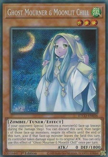 YuGiOh Eternity Code Secret Rare Ghost Mourner & Moonlit Chill ETCO-EN036