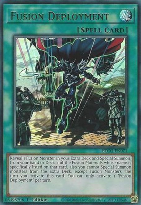 YuGiOh Eternity Code Ultra Rare Fusion Deployment ETCO-EN071