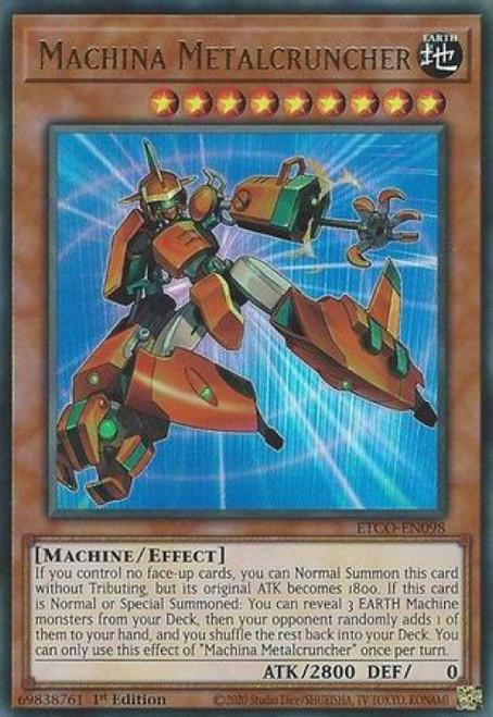 YuGiOh Eternity Code Ultra Rare Machina Metalcruncher ETCO-EN098