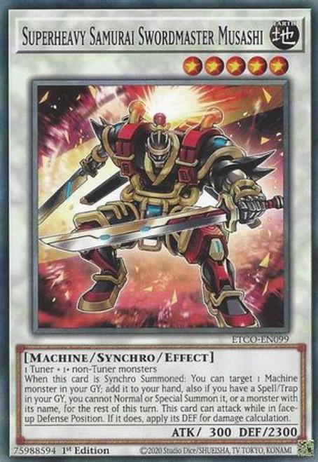 YuGiOh Eternity Code Common Superheavy Samurai Swordmaster Musashi ETCO-EN099