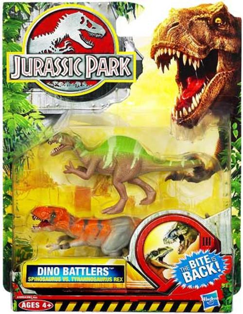 Jurassic Park Dino Battlers Spinosaurus vs. Tyrannosaurus Rex Figure 2-Pack