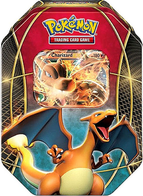 Pokemon Trading Card Game 2014 XY Charizard-EX Tin Set [4 Booster Packs & Promo Card!]
