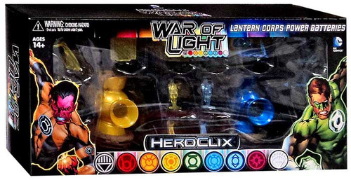 DC Heroclix War of Light Lantern Corps Power Batteries Accessory Set [Yellow & Blue]