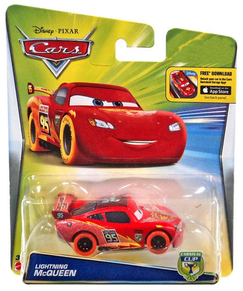 Disney / Pixar Cars Carnival Cup Lightning McQueen Exclusive Diecast Car