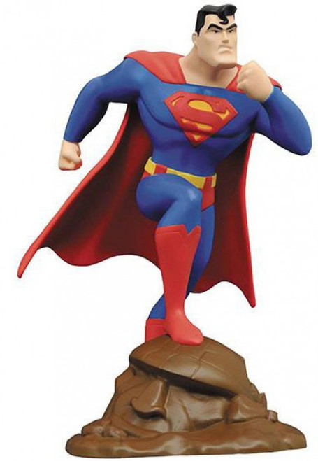 Superman Animated DC Gallery Superman 9-Inch PVC Figure Statue [Animated Style]