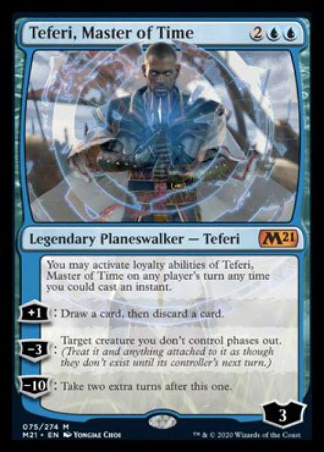 MtG 2021 Core Set Mythic Rare Teferi, Master of Time #75