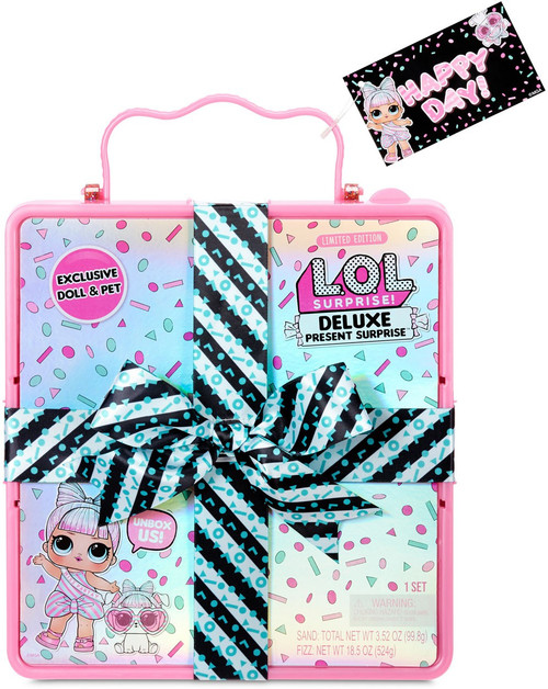 LOL Surprise DELUXE Present Surprise Miss Partay & Pet Partay Puppay Mystery Pack [PINK]