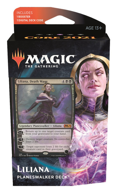 MtG Trading Card Game Core 2021 Liliana Planeswalker Deck