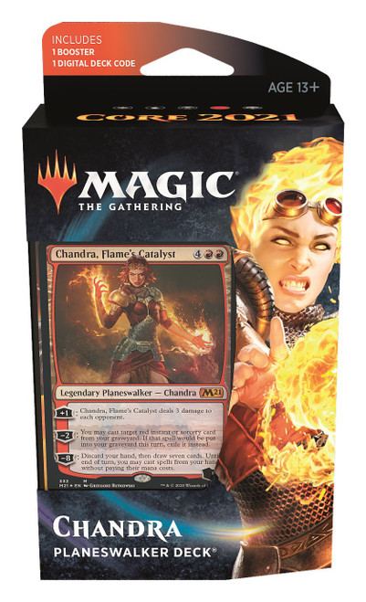 MtG Trading Card Game Core 2021 Chandra Planeswalker Deck