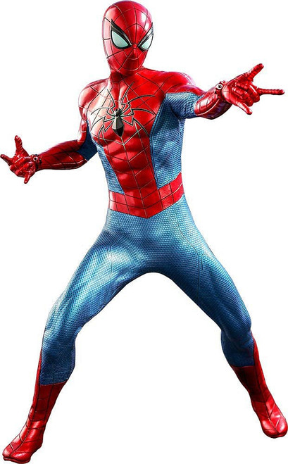 Marvel Video Game Masterpiece Spider-Man Collectible Figure [Spider Armor - MK IV Suit]