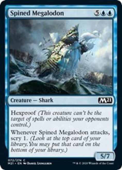 MtG 2021 Core Set Common Spined Megalodon #72