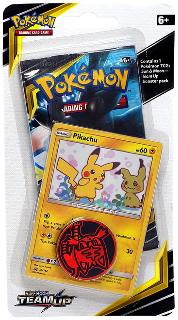 Pokemon Trading Card Game Sun & Moon Team Up Pikachu BLISTER Pack [Booster Pack, Promo Card & Coin!]