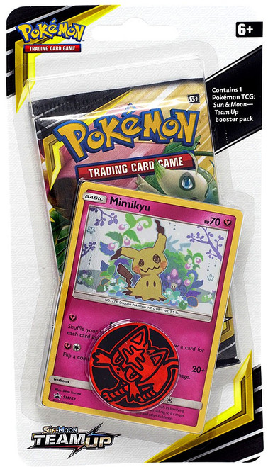 Pokemon Trading Card Game Sun & Moon Team Up Mimikyu BLISTER Pack [Booster Pack, Promo Card & Coin!]