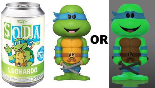 Funko Teenage Mutant Ninja Turtles Vinyl Soda Leonardo Limited Edition of 12,500! Vinyl Figure [1 RANDOM Figure Look For The Glow-in-the-Dark Chase!]