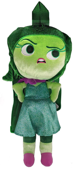 Disney / Pixar Inside Out Disgust 15-Inch Plush Backpack