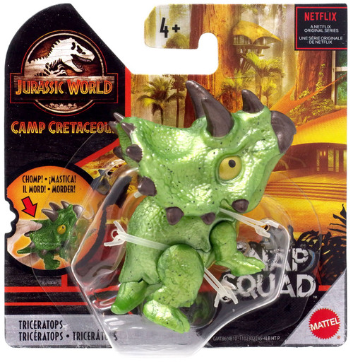 Jurassic World Camp Cretaceous Snap Squad Triceratops Mini Figure [Green]