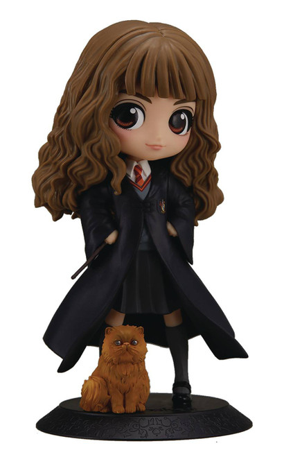 Harry Potter Q Posket Hermione Granger 5.5-Inch Collectible PVC Figure [with Crookshanks]
