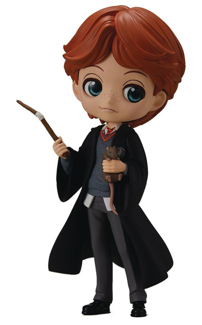 Harry Potter Q Posket Ron Weasley 5.5-Inch Collectible PVC Figure [with Scabbers]