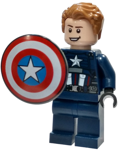 LEGO Marvel Super Heroes Avengers Captain America [Dark Blue Suit, Shield Loose]