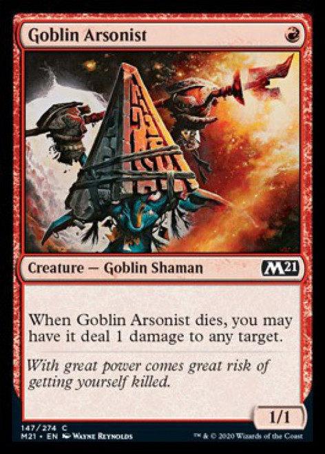 MtG 2021 Core Set Common Goblin Arsonist #147