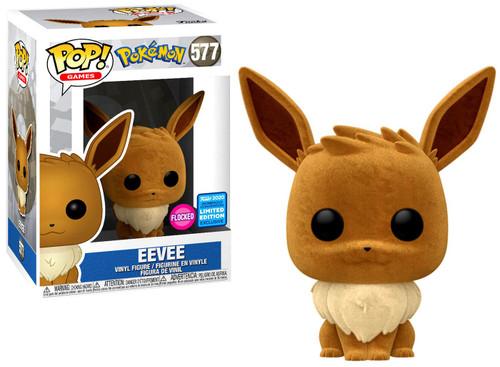 Funko Pokemon POP! Games Eevee Exclusive Vinyl Figure #577 [Flocked, Sitting]