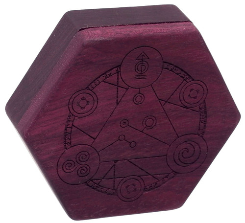 Dungeons & Dragons Hex Dice Chest [Purpleheart Wood, Spellcircle Engraving, Beehive Style]