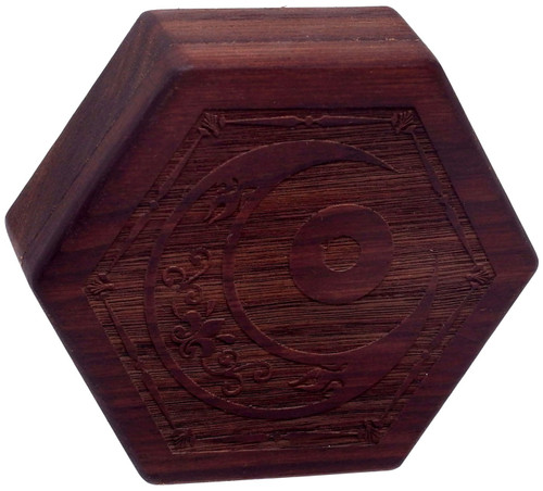 Dungeons & Dragons Hex Dice Chest [Walnut Wood, Mystic Eye Engraving, Beehive Style]