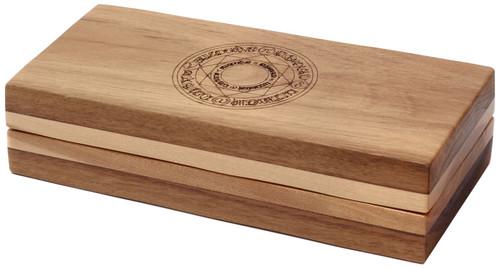 Dungeons & Dragons Sentinel Box [Black Walnut Wood, Card Double Top, Card Triple Bottom, Arcane Circle Engraving]