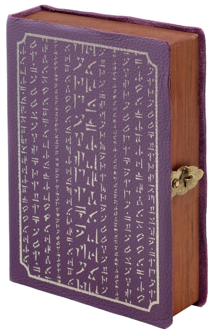 Dungeons & Dragons Spellbook Chest [Amethyst Leather, Silver Rune Art, Pewter Foil, Card Foam]