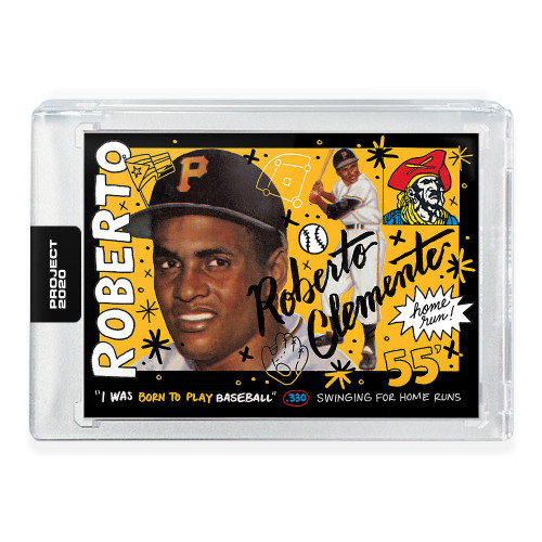 MLB Topps Project 2020 Baseball 1955 Roberto Clemente Trading Card [#110, by Sophia Chang]