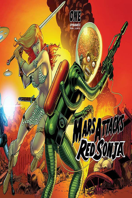 Dynamite Entertainment Mars Attacks Red Sonja #1 Comic Book [Cover E Kitson Card Homage]