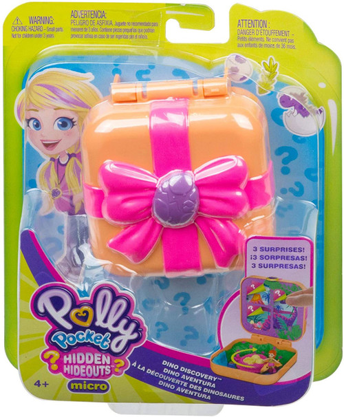Polly Pocket Hidden Hideouts Dino Discovery Playset
