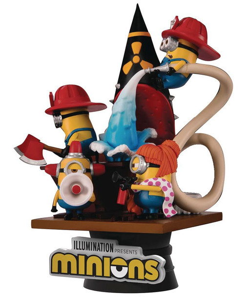 Minions D-Stage Fire Fighter 6-Inch Diorama Statue DS-048