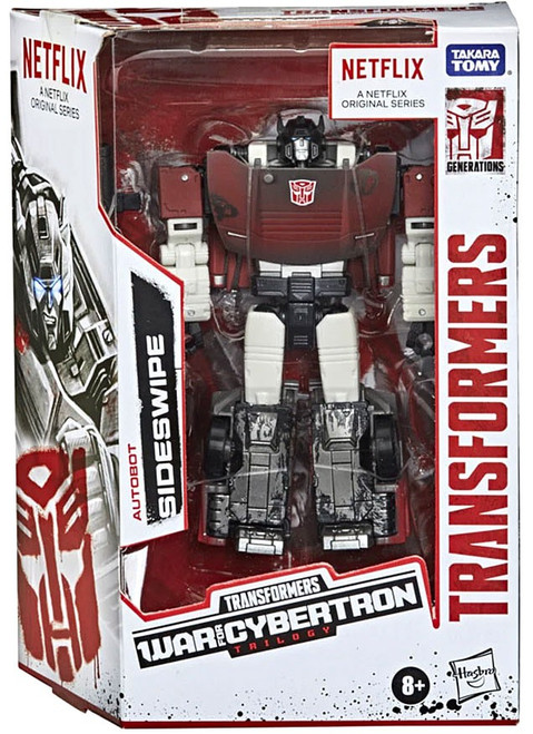Transformers Generations War for Cybertron: Trilogy Sideswipe Deluxe Action Figure [Netflix Series Inspired]