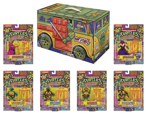 Teenage Mutant Ninja Turtles Leonardo, Dontallo, Michelangelo, Raphael, Shredder & Splinter Exclusive 6-Piece Retro Rotocast Action Figure Boxed Set