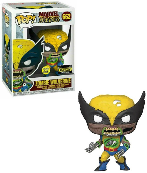 Funko Marvel Zombies POP! Movies Wolverine Exclusive Vinyl Figure #662 [Glow-in-the-Dark]