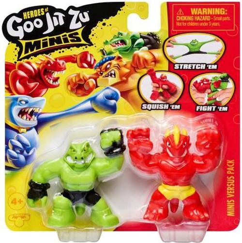 Heroes of Goo Jit Zu Wubber Warriors Series 1 Blazagon & Rockjaw MINI Figure VS. 2-Pack