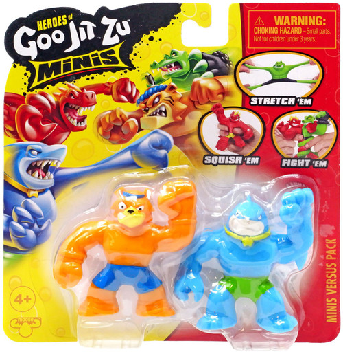 Heroes of Goo Jit Zu Wubber Warriors Series 1 Thrash & Tygor MINI Figure VS. 2-Pack