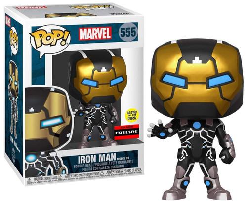 Funko POP! Marvel Iron Man Exclusive Vinyl Bobble Head [Model 39, Glow-in-the-Dark]