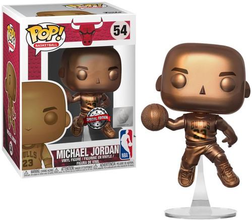 Funko NBA Chicago Bulls POP! Basketball Michael Jordan Exclusive Vinyl Figure #54 [Bronzed]