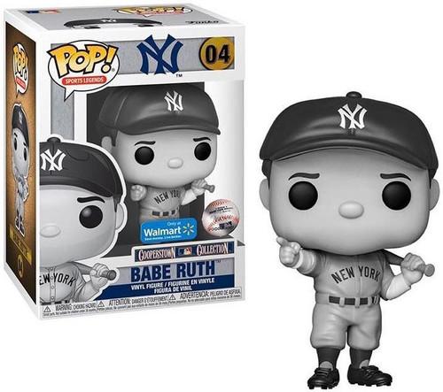 Funko MLB New York Yankees POP! Legends Babe Ruth Exclusive Vinyl Figure #04 [Black & White, Damaged Package]