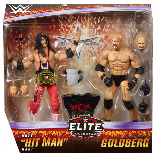 WWE Wrestling Elite Collection Goldberg & Bret Hitman Hart Action Figure 2-Pack